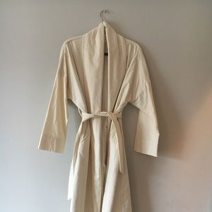 Black Crane limited edition cream trench coat